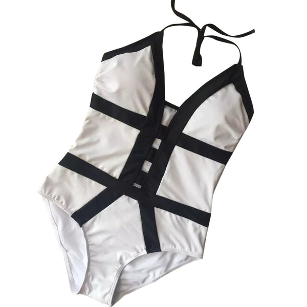 """Faerydae"" Monochrome Swimsuit"