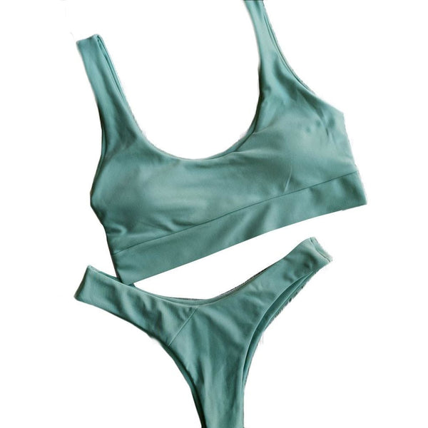 """Gala"" Athletic Thong Bikini Set"
