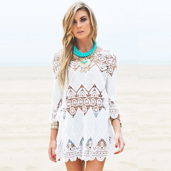 Crochet Shift Beach Dress