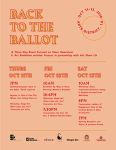 BACK TO THE BALLOT: Voter Awareness Event