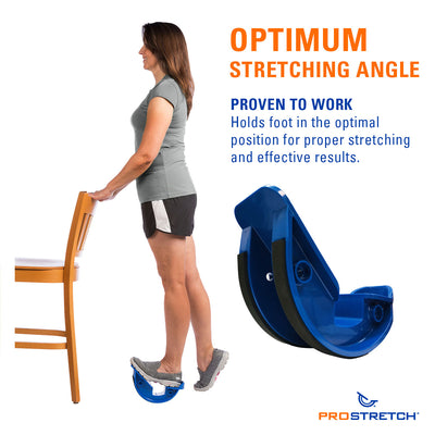 ProStretch The Original Calf and Foot Stretcher has an optimum stretching angle proven to work. Holds foot in the optimal position for proper stretching and effective results.