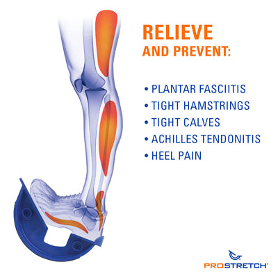 ProStretch The Original Calf and Foot Stretcher, relieve and Prevent Plantar Fasciitis, Achilles Tendonitis, Tight Calfs, Heel Pain, Tight Hamstrings