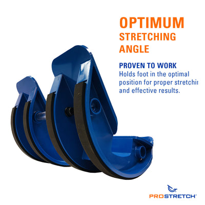 ProStretch Double The Original Calf and Foot Stretcher provides an optimum stretching angle proven to work