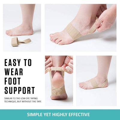 Easy to wear foot support.