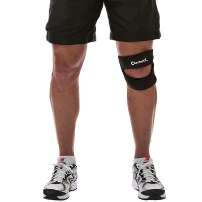Man wearing the Cho-Pat Dual Action Knee Strap