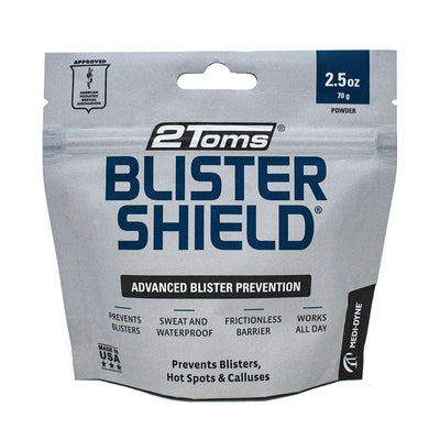 2Toms BlisterShield Advanced Blister Prevention 2.50oz Packaging