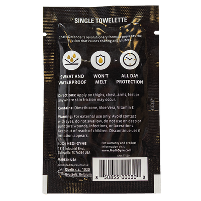 2Toms® Chafe Defender™ Anti Chafing Towelette
