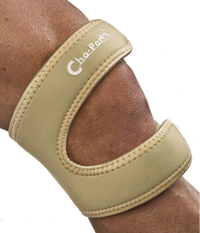 Cho-Pat Dual Action Knee Strap in tan color