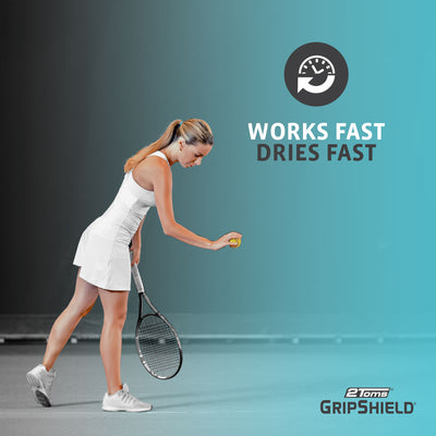2Toms GripShield works and dries fast for Tennis players.