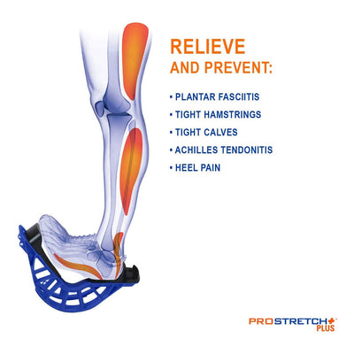 ProStretch Plus Relieve and Prevent Plantar Fasciitis, Tight Hamstrings, Tight Calves, Achilles Tendonitis, and Heel Pain