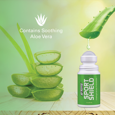 2Toms SportShield Contains Soothing Aloe Vera