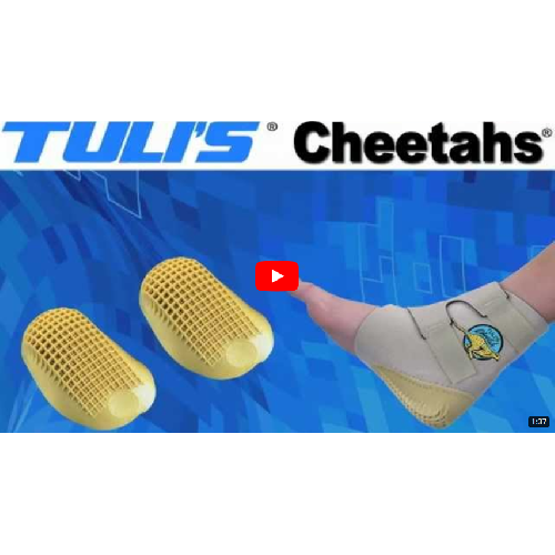 Tuli's® Cheetah® Heel Cup with Compression Sleeve, Adult-OSFA