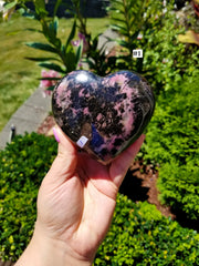 Large Rhodonite Hearts