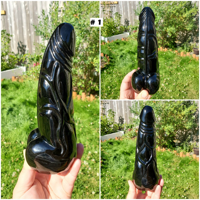XL Realistic Obsidian Penis with Veins