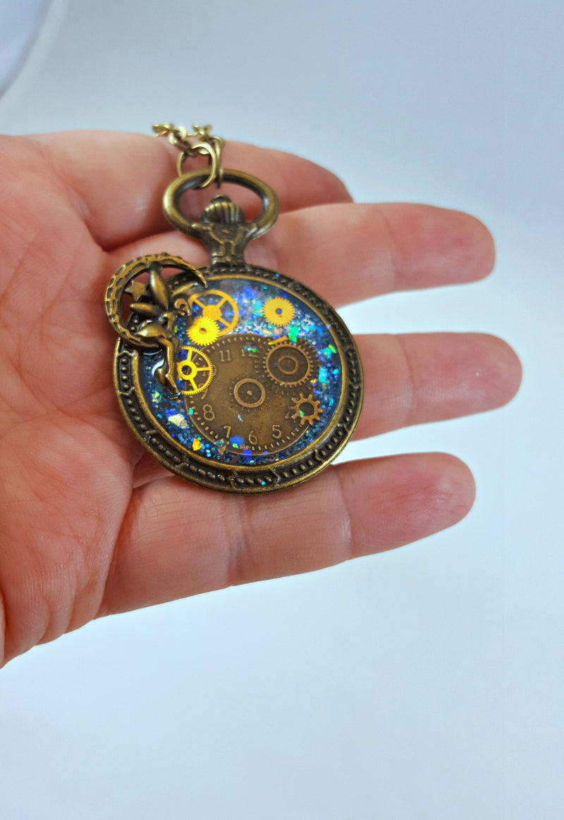 Steampunk Fairy Resin Pendant