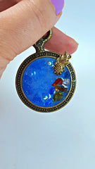 Into the Blue Necklace Resin Pendant