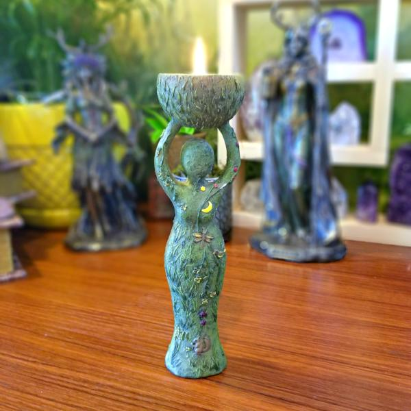 Goddess T-Light Candle Holder