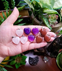 Small Crystal Heart Pendants