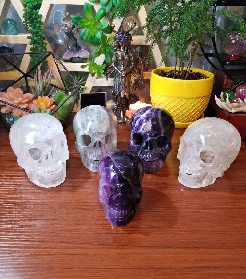 XL Purple Fluorite Skull Light/Lamp