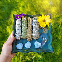 Sage & Crystals Bundle Smudge Kit
