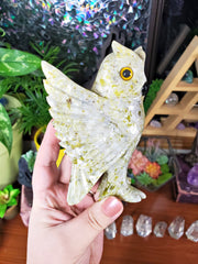 Large Beautiful Dolomite Owl Carving