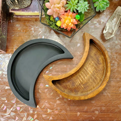 Large Crescent Moon Wooden Tray