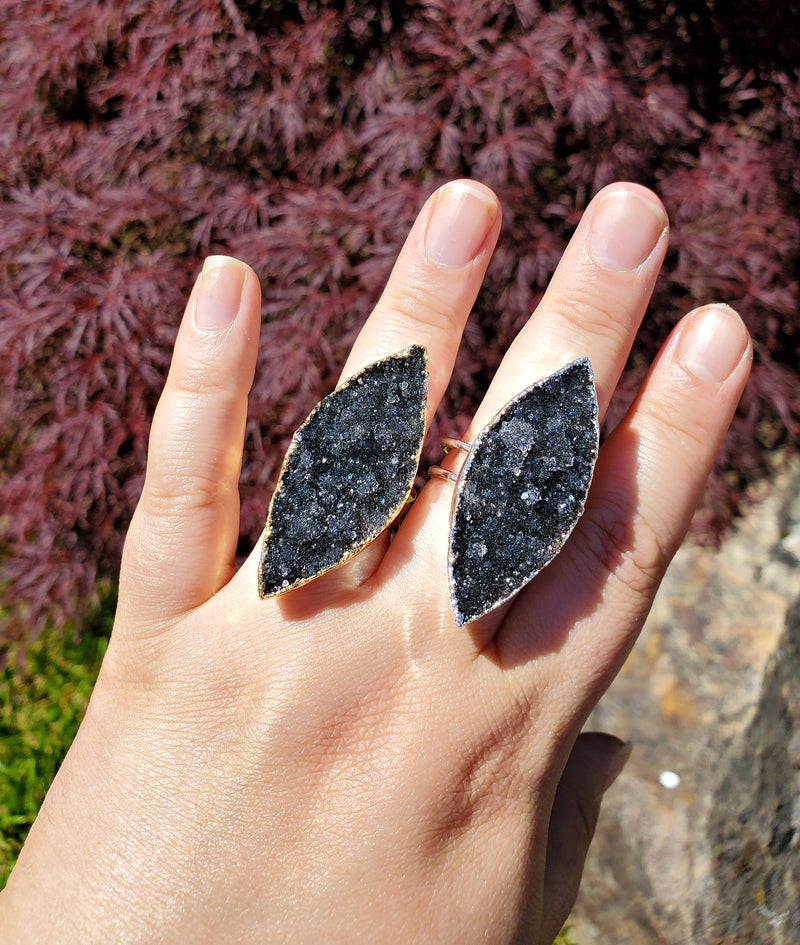 Black Galaxy Amethyst Ring