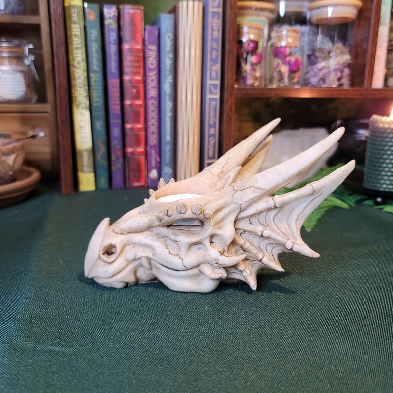 Dragon Skull T-Light Candle Holder