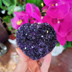 Deep Purple Amethyst Heart from Uruguay