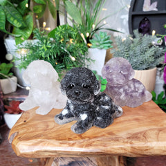 Large Crystal & Resin Puppy