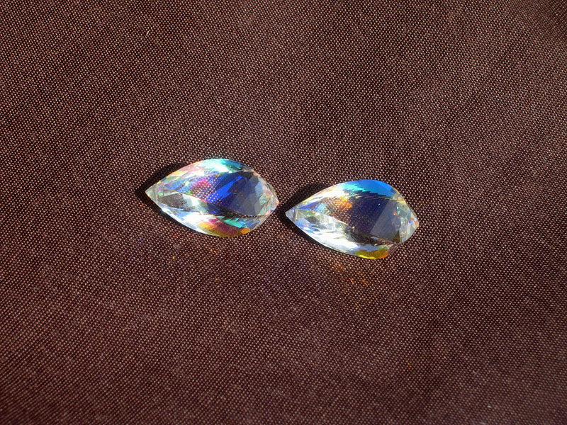 Lustrous AAA Rainbow Quartz Faceted Fancy Spiral Briolettes