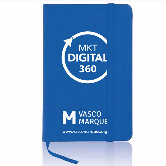 Bloco tipo moleskine - Marketing Digital 360