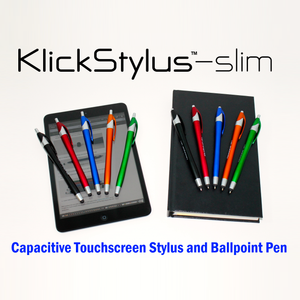 Klick Stylus Slim - Ballpoint Pen and Touchscreen Stylus