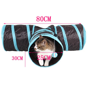 Foldable 3 Hole Cat Tunnel