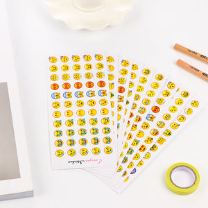 6 Sheets (330 stickers) Emoji Smiley Face Stickers