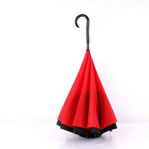 Double Layer Reverse Umbrella open/close in the narrowest space