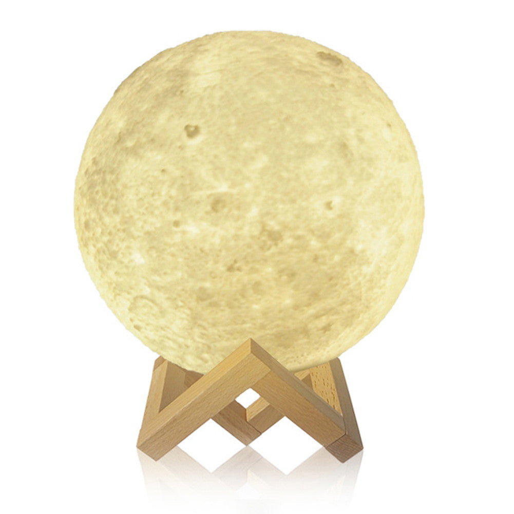 3D Print Moon Lamp USB LED Night Light Moonlight | 8-20cm