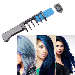 6pcs Instant Hair Chalk Comb Shimmer Temporary Hair Dye