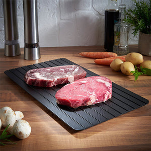 Defrost Tray Thaw Frozen Food, Meat and Fish In Minutes!