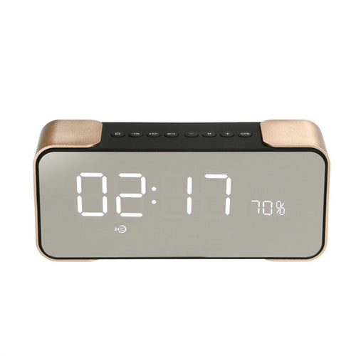 Radio Alarm Clock Bluetooth Speaker with LED Screen