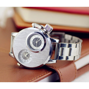 Stainless Steel Dual Time Watch