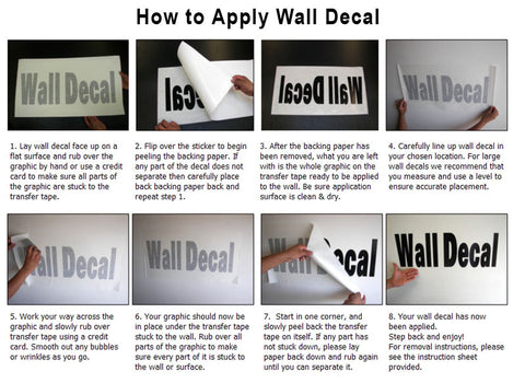instructions - how to apply wall decals / wall stickers application