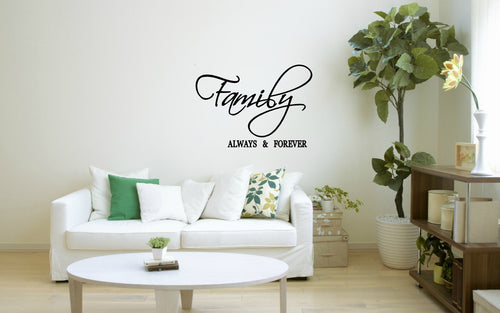 Family Always & Forever Wall Decal Two Little Giggles