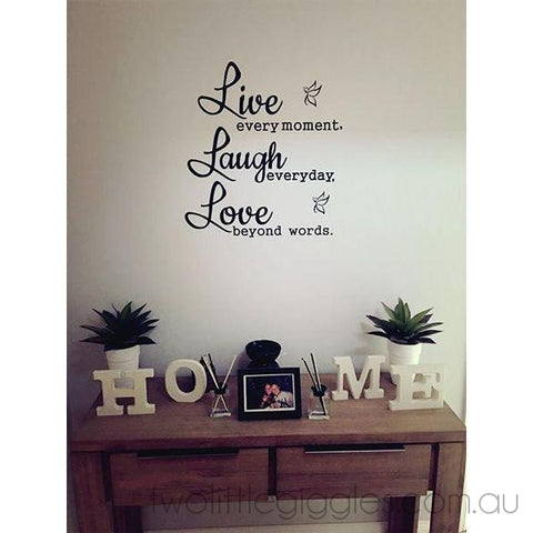 Live Laugh Love Decal - Two Little Giggles