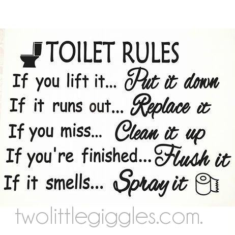 Toilet Rules - Two Little Giggles