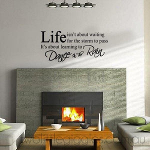 Dance in the Rain - Two Little Giggles removable wall decal sticker