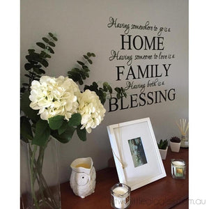 Home Family Blessing - Two Little Giggles