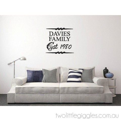 Custom Family Name Decal - Two Little Giggles