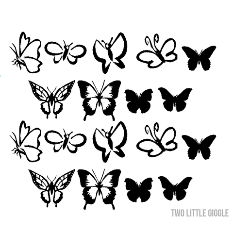 Pretty Butterflies - Two Little Giggles