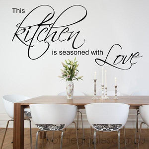 This Kitchen is seasoned with love removable wall sticker decal